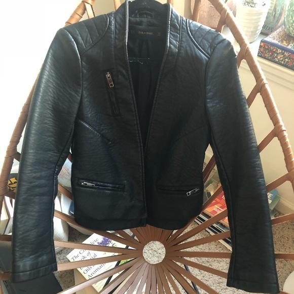 e8cd0afd Zara Jackets & Coats   Faux Leather Jacket   Poshmark